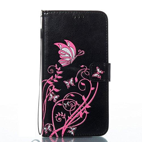 Wkae Spannung verrückte Pferd Textur Horizontale Flip Leder Tasche mit Halter & Card Slots für iPhone 7 Plus ( Color : Red ) Black