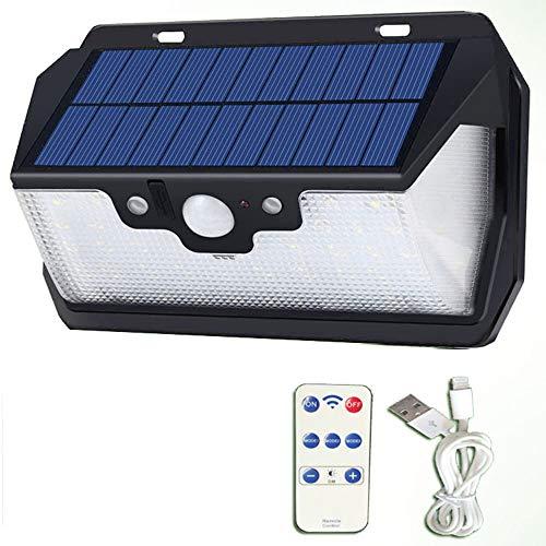 Aplique Control Remoto Solar Luz Seguridad Sensor