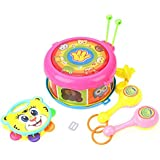 IndusBay Baby Concerts Kids Toy Set With Drum Trumpet Cabasa A Complete Musical Instruments Band Kit Toy For Babies