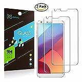 [2-pièces] Didisky® LG G6 Protection écran,Verre Trempé, Vitre Didisky® [Toucher lisse] Dureté 9H [Easy-Install] pour LG G6