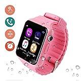 YK WATCH Kids Smartwatch,Tracker SOS Help Orologi da Polso Fotocamera Digitale Cellulare Cellulare Guarda i Migliori Regali Bambini per Ragazze Ragazzi,Pink