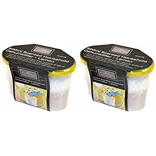 Pack of 2 Ashley Housewares Scented Dehumidifiers - Choose from 4 Fragrances (Lemon)