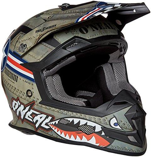 O'Neal 5Series MX Helm Wingman Metall Weiß Motocross Enduro Quad Cross, 0618-01, Größe S (55/56 cm)