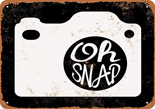 Retro-oh Snap (OURTrade 12 x 16 Metal Sign - Oh Snap Camera - Vintage Look)
