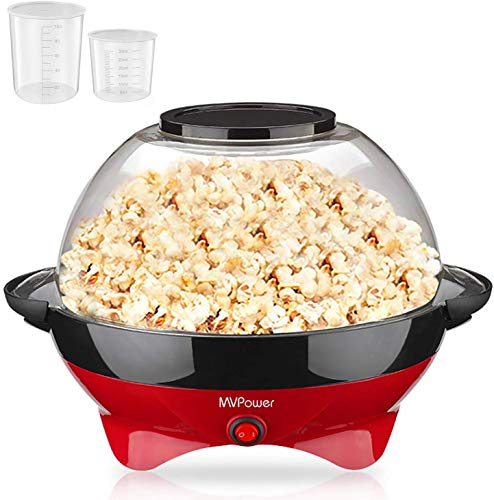 MVPower Máquina de Palomitas, 800W Popcorn Maker, Superficie de Calentamiento Extraíble Recubrimiento...