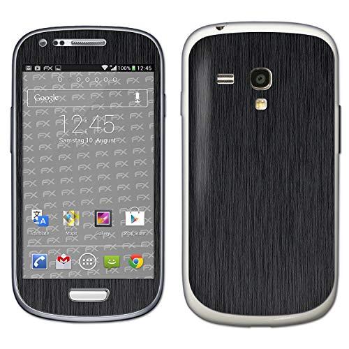 bel mit Samsung Galaxy S3 Mini GT-i8190, Designfolie Sticker (FX-Brushed-Black), Gebürstet/Bürsten-Struktur ()