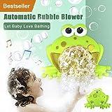 LCLrute Aktualisierung 2019 Nette Frosch Automatische Blase Maschine Schwimmen Wasser Spielzeug Neugeborene Baby Bad Blase Maschine Große Frösche Automatische Mit Musik Waschen Spielen