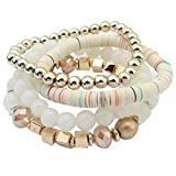 Die besten Vovotrade Fußkettchen Armbänder - Vovotrade ♥♥Frauen Bunte Perlen Armband Handgefertigte Armbänder Florid Bewertungen