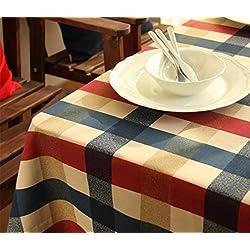 XIAOMEIXI Mantel de tela de tela escocesa de fibra de algodón para la cocina Decoración de mesa de mesa Múltiples tamaños , 140*220cm