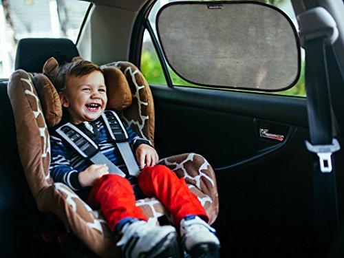 Preisvergleich Produktbild Auto SONNENSCHUTZ / SONNENBLENDE im 2er Set für Baby und Kind von Outback Shades - schwarz - Hitzeschutz mit UV Schutz für die Seitenfenster. Praktisch: Universelle Größe 48 x 30 cm, selbsthaftend