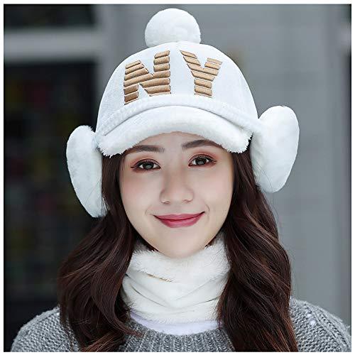 LIXUE Gorra de béisbol Cálido Sombrero Mujer Invierno Salvaje Moda Hipster  Winter Plus Fluff Duck Lengua 5529fb68f0d