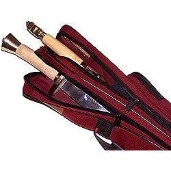 """ChengYi 47"""" x 4,3 Katana Samurai Espada caso bolsa con correa ajustable debe, espada llevar caso CYBG01 (rojo)"""