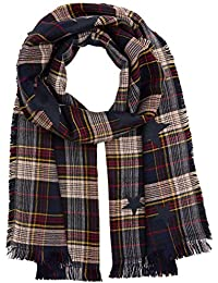 Womens Lovely Check Scarf, Beige (Cashew Beige 8229), One Size Tom Tailor
