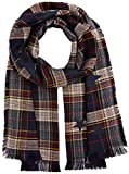 TOM TAILOR Damen Schal trendy Check Scarf, Blau (Real Navy Blue 6593), One Size