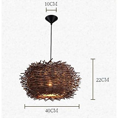 Estate lampadari rattan Bird's Nest Ristorante Bar