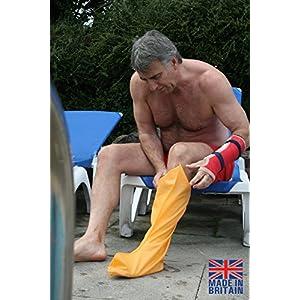 Buddy Wasserdicht halbes Bein Gips oder Verletzungen für Dusche Bad und Schwimmen–56cm lang verschiedenen Größen