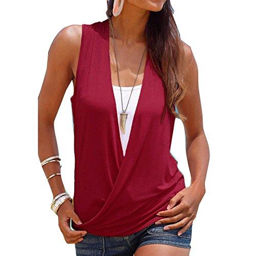 Yying 2 EN 1 Camisa Mujer Top de Verano Mujeres Camiseta Blusas...