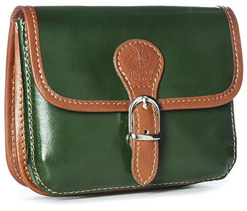 Big Handbag Shop, Borsa a tracolla donna One Verde (Green-Tan Trim)