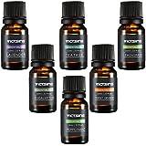 VicTsing Ätherische Öle Set, 6 Flaschen 10ml/33fl oz Jeder (Orange, Lavendel, Teebaum, Zitronengras, Eukalyptus und Pfefferminze)
