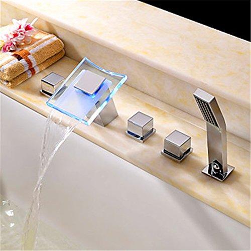 Preisvergleich Produktbild WYMBS Bad Armatur zeitgenössische Whirlpool Wasserfall/Keramik Ventil Chrom, Badewanne Armatur
