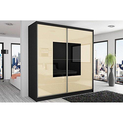 justhome-beauty-ii-armoire-218-200-60-cm-couleur-noir-mat-perle-noir-laque-haute-brillance