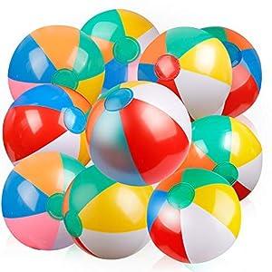 Coogam Aufblasbarer Wasserball Klassisch Regenbogen Farbe Geburtstag...