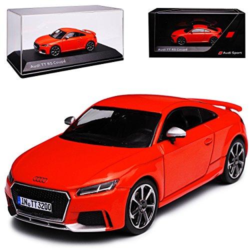 alles-meine GmbH Audi TT RS FV 8S Coupe Catalunya Rot 3. Generation Ab 2014 1/43 Kyosho i-Scale Modell Auto mit individiuellem Wunschkennzeichen