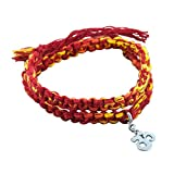 #2: fourseven Rakhi in 925 Sterling Silver & Moli Threads | Wrap Around Moli Bracelet with Om Charm