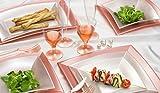25 Dessertteller • PERLROSA • 180x180x20 • flach • Einweg-Teller, als Mehrwegteller verwendbar • Plastikteller • Kunststoffteller • Partyteller • Polypropylen • Plastikgeschirr (180x180 mm, perlrosa)