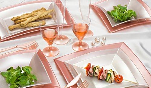 6nobile rettangolo piatto | stabile plastica piatto | alta qualità piatto da portata Piatto | (Compleanno Speciale Piastra)