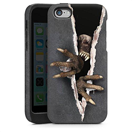 Apple iPhone 4 Housse Étui Silicone Coque Protection Monstre Griffes Animal Cas Tough brillant