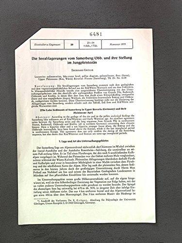 Die Seeablagerungen vom Samerberg/Obb. u. ihre Stellung im Jungpleistozän. Sep.-Druck: Eiszeitalter u. Gegenwart, 29, 23-34, | 4 Abb., 1 Tab., 1979.