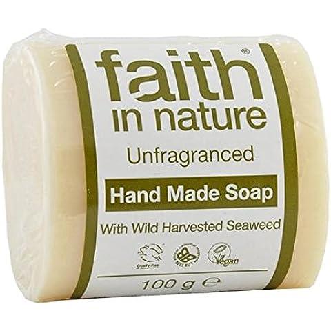 La fe en la naturaleza sin fragancia pura hecha a mano 100g de jabón