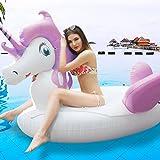 Un buon regalo per i bambini o le ragazze, per diventare il centro delle feste in piscina.Isola grande unicorno 220*270*130cm dal design innovativo, comodo, simpatico e divertente, con colori vivaci carini e accattivanti.Descrizione Specifich...