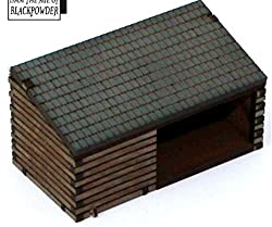 15mm Pre Painted Game Terrain Age Of Black Powder Cart House/Woodstore
