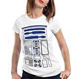 style3 R2 Einheit Damen T-Shirt Astromech droide, Größe:XS