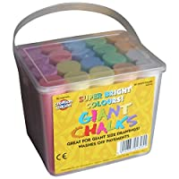 Be Creative Jumbo Sidewalk Chalks 20 Coloured