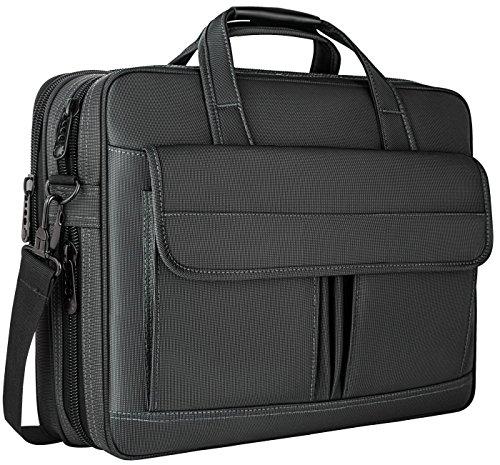 Fujitsu-xp-laptops (Laptop-Tasche 15,6 Zoll, wasserdicht Aktentasche, 15-Zoll-erweiterbar Messenger Schultertasche mit Gurt, Taygeer Carry On Griff Fall für Computer/Notebook/Macbook für Geschäftsleute/Frauen, schwarz)