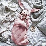 nouveau-né Wrap Sac de couchage Nid d'ange bébé Tricot Sac de couchage Wrap, Sac pour enfant pour poussette Wrap 0–8mois bébé enfants (Rose, Blanc, Gris) rose rose
