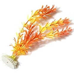 SODIAL(R) Orange Kuenstlich Wasserpflanze Aquarium Dekoration Ornament