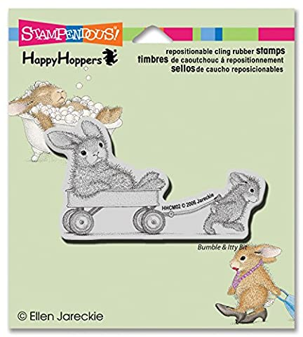 Stampendous Rubber HappyHopper Cling Stamp 3.5-inch x 4-inch, Wagon Ride