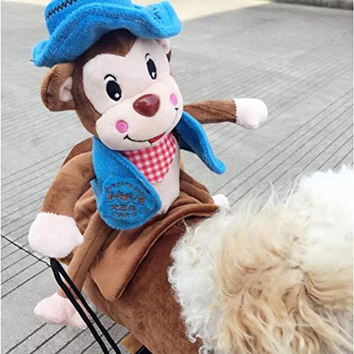Lustige Haustierkleidung für Hunde und Katzen, Ritter-Stil, Affenmotiv, -