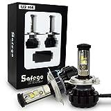 Safego 2x H4 Hi/Lo Faro Bombillas Alquiler de luces LED 80W 8000LM brillante estupendo de la lámpara con la viruta del Cree para el coche / Van / Camión / vehículo Car Auto Llevado conduciendo Luz
