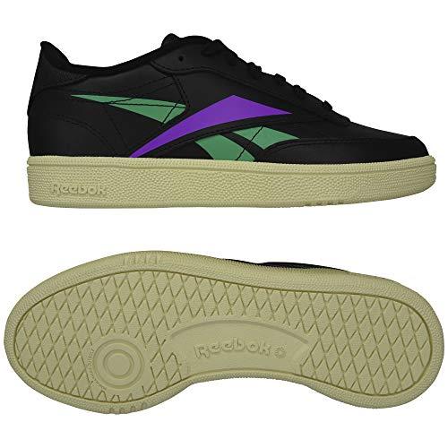 Reebok Club C 85 W Schuhe Black/Emerald/Grape Punch - Reebok Tennis Club