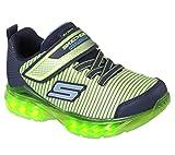 Skechers Jungen Flex-Charge-Ronix Sneaker, Mehrfarbig (Lime/Navy), 30 EU