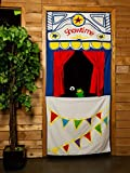 MMP Living Doorway Puppet Theater with Adjustable Rod, tie-Back Curtains