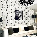 moderne, minimalistische 3d - wasser ripple tapeten geeignet für wohnzimmer wand büro tapete,super dick aus stoff - schwarz - weiß,tapete nur