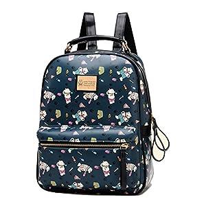 Fashion Plaza-Mochila de hombros para Chicas Mochila escolar/ de viaje C5805 (Azul)