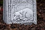 """Grabstein Hund """"Du findest deinen Platz im Himmel"""", frost- und wetterfest, massiver Steinguss - 5"""