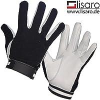 unihockey Handschuhe/la Top Guantes de también para portero/Real Guantes de piel, color negro, tamaño xx-large